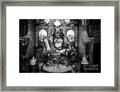 Fat Happy Buddha Framed Print by Dean Harte