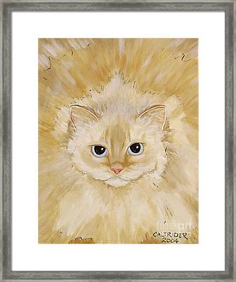 Framed Print featuring the painting Fat Kitty by Alison Caltrider