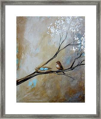 Fat Little Bird's Nest Framed Print by Dina Dargo