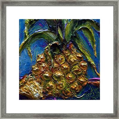 Fat Little Pineapple Framed Print by Paris Wyatt Llanso