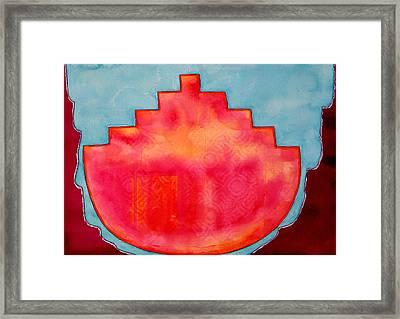 Fat Sunrise Original Painting Framed Print