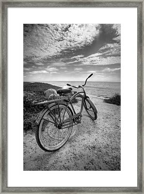 Fat Tire Black And White Framed Print by Peter Tellone