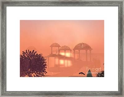Framed Print featuring the digital art Fata Morgana by Susanne Baumann