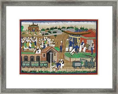 Fatal London Underground Accident Framed Print by British Library