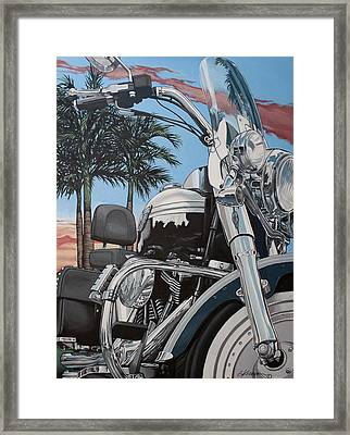 Fatboy Sunset Framed Print by Gary Kroman