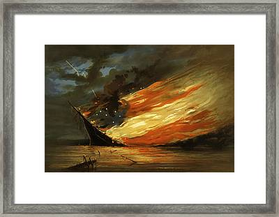 Fate Of The Rebel Flag Framed Print by Mountain Dreams