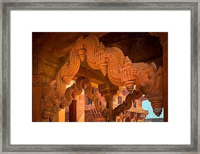 Fatehpur Sikri Detail Framed Print by Inge Johnsson