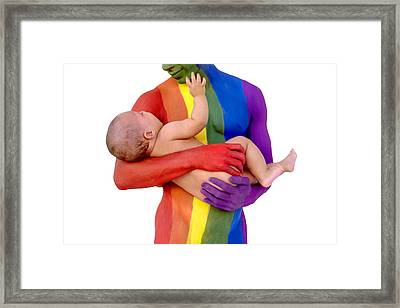 Father And Child Framed Print by Filippo Ioco