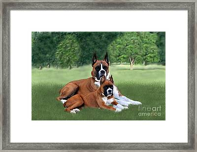 Father And Daughter Framed Print