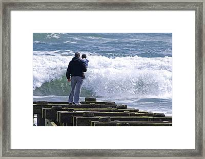 Framed Print featuring the photograph Father And Son by Greg Graham