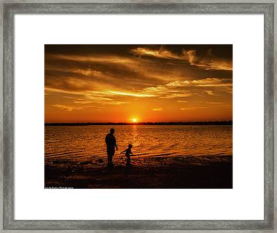 Framed Print featuring the photograph Father And Son by Linda Karlin