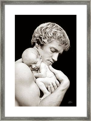 Father And Son Framed Print by Lori Grimmett