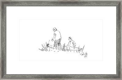 Father And Son Netting Bait Bayou La Batre Alabama Framed Print