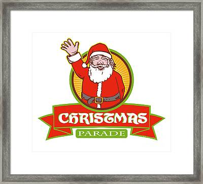 Father Christmas Santa Claus Parade Framed Print by Aloysius Patrimonio