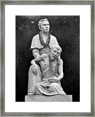 Father Damien Of Molokai Framed Print by Karon Melillo DeVega
