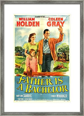 Father Is A Bachelor, Us Poster Framed Print by Everett