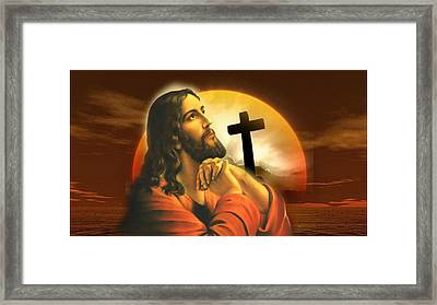 Framed Print featuring the digital art Father It's Time by Karen Showell