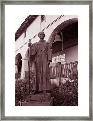 Father Junipero Serra Framed Print by Kathy Yates