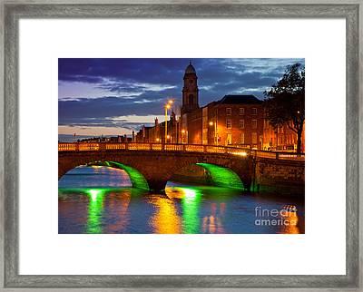 Father Matthew Bridge Framed Print by Inge Johnsson