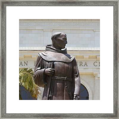 Father Serra Framed Print by Art Block Collections
