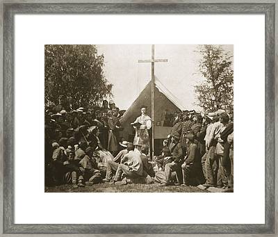 Father Thomas H. Mooney Leading Sunday Framed Print by Mathew Brady