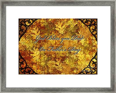 Father's Day Greeting Card IIi Framed Print by Debbie Portwood