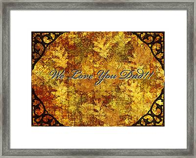 Father's Day Greeting Card Iv Framed Print by Debbie Portwood