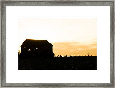 Father's Field Framed Print by BandC  Photography