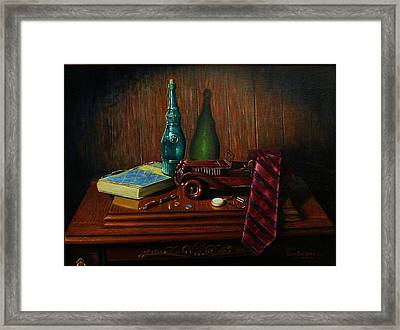 Father's Touch Framed Print by Gene Gregory