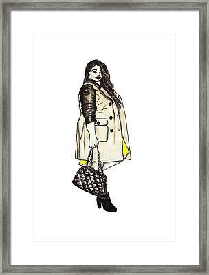 Fatshionista #2 Framed Print by Micaela Shambee