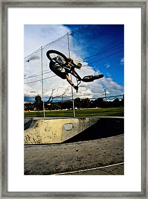 Fattie Kick Tail Framed Print by Joel Loftus