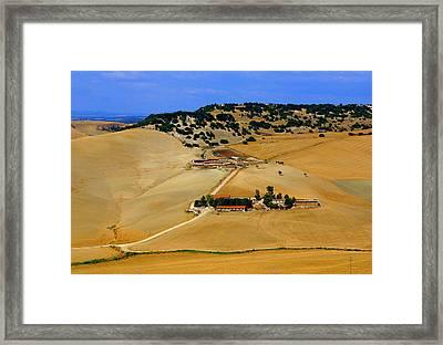Farm In Rural Tarquinian Framed Print