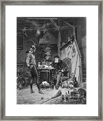 Faust And Mephistopheles Framed Print by Granger