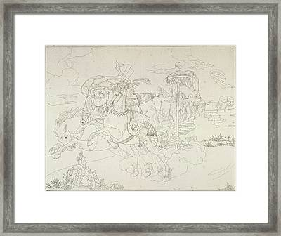 Faust And Mephistopholes Framed Print by British Library
