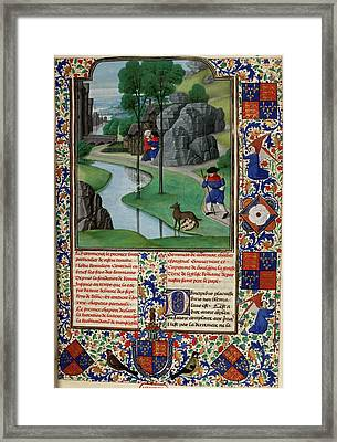 Faustulus Discovers Romulus And Remus Framed Print