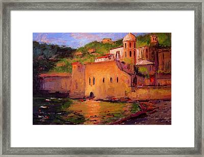 Fauvo Vernazza Framed Print by R W Goetting