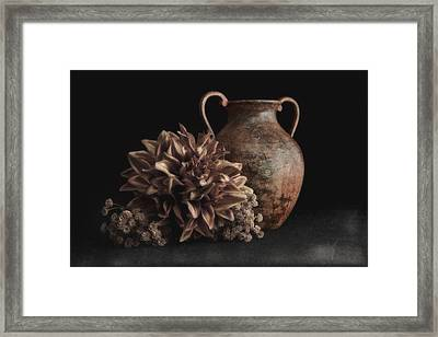 Faux Flower Still Life Framed Print