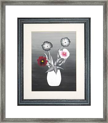 Faux Flowers II Framed Print