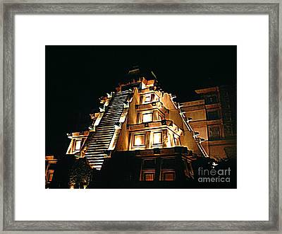 Faux Myan Pyramid Framed Print by John Malone