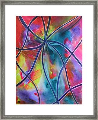 Faux Stained Glass 1 Framed Print