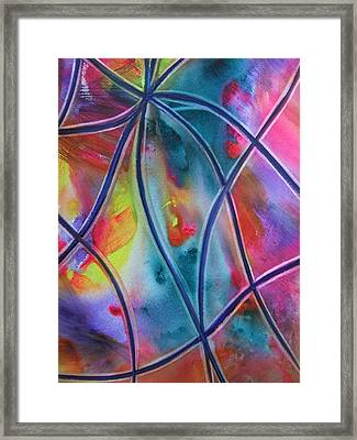 Faux Stained Glass II Framed Print