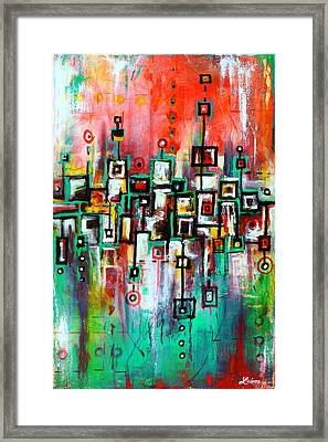 Favelas - Abstract Art By Laura Gomez Framed Print by Laura  Gomez