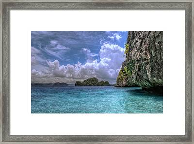 Favorite Color Blue Framed Print