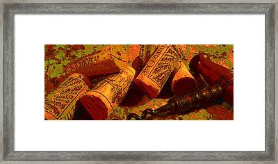 Favorite Corks Framed Print by Doug Edmunds