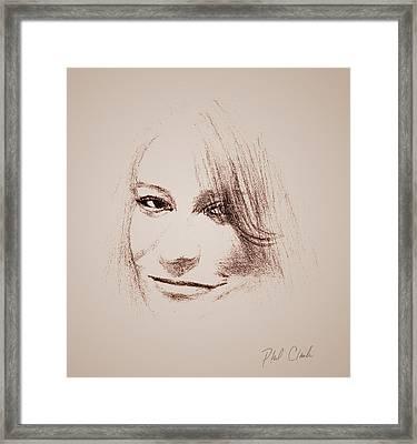 Favorite Niece Framed Print by Phil Clark