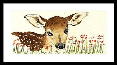 Bambi Framed Prints