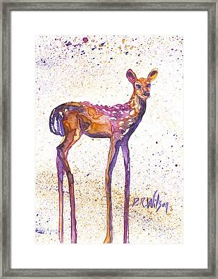 Fawn Rising Framed Print by D Renee Wilson