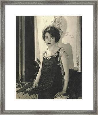 Fay Bainter Wearing A Dress Framed Print