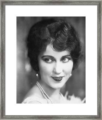 Fay Wray Framed Print by Silver Screen