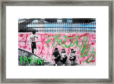 Framed Print featuring the photograph Fayan Boys by Lesley Fletcher